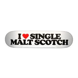 I LOVE SINGLE MALT SCOTCH SKATE DECK