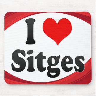 I Love Sitges, Spain. Me Encanta Sitges, Spain Mouse Pad
