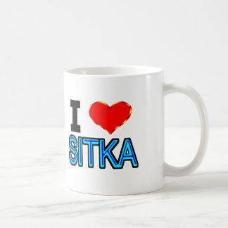 I Love Sitka Coffee Mug