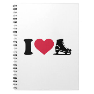 I love skate speed figure skating spiral notebook