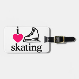 I Love Skating Luggage Tag