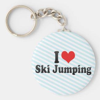 I Love Ski Jumping Keychain