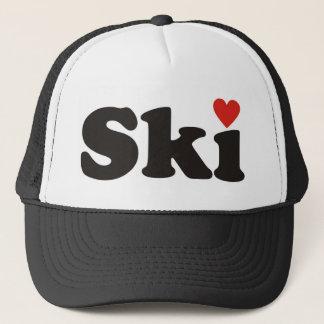 I love ski trucker hat