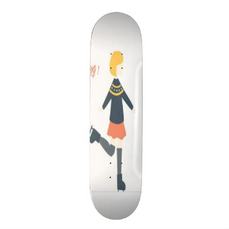 I love skiing cute girly skate board