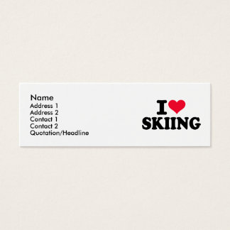 I love Skiing Mini Business Card