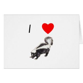 I Love Skunks (2) Card