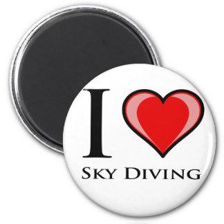 I Love Sky Diving Magnet