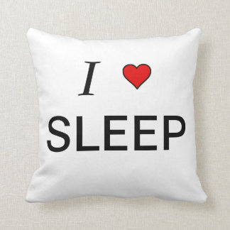 I love sleep throw pillow