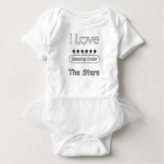 I Love Sleeping Under The Stars Baby Bodysuit