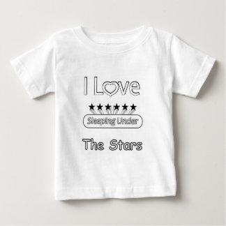 I Love Sleeping Under The Stars Baby T-Shirt