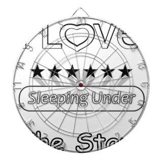 I Love Sleeping Under The Stars Dartboard
