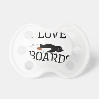I Love Sliding Boards Pacifiers