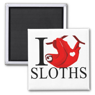 I Love Sloths Magnets