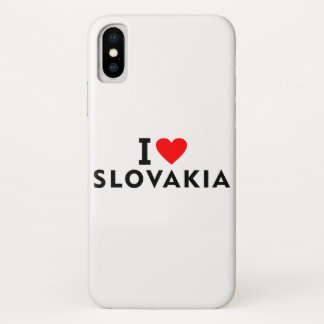 I love Slovakia country like heart travel tourism Case-Mate iPhone Case