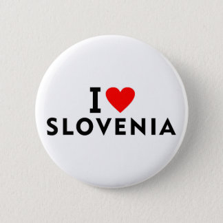 I love Slovenia country like heart travel tourism 2 Inch Round Button