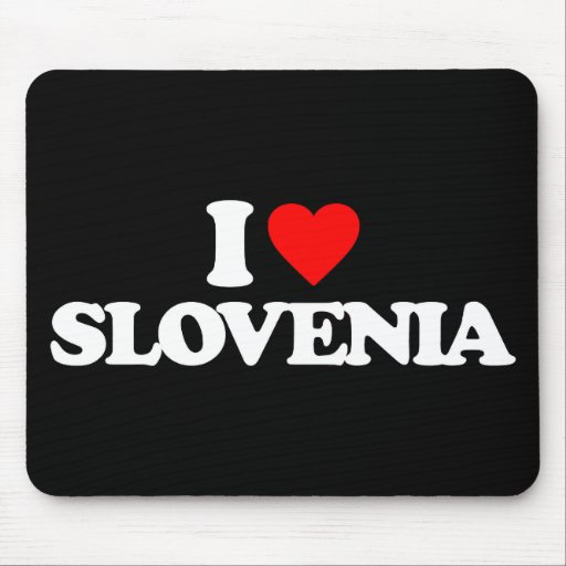 I LOVE SLOVENIA MOUSE PADS