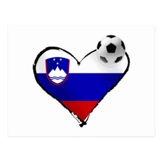 I love Slovenian football - Slovenia soccer love Postcard