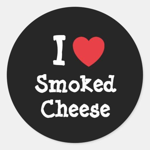 I love Smoked Cheese heart T-Shirt Sticker