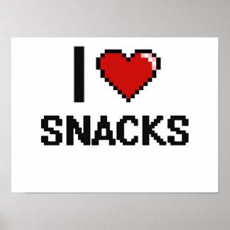 I Love Snacks Poster