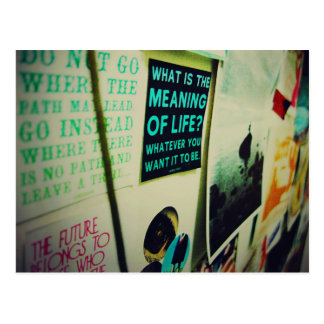 I Love Snailmail - The Meaning Of Life Postcard