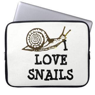I Love Snails Laptop Sleeve