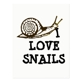I Love Snails Postcard