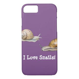 I Love Snails Snail Design iPhone 8/7 Case