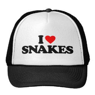 I LOVE SNAKES TRUCKER HAT
