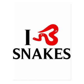 I Love Snakes Postcards