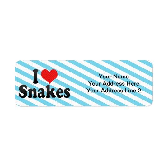 I Love Snakes Return Address Label