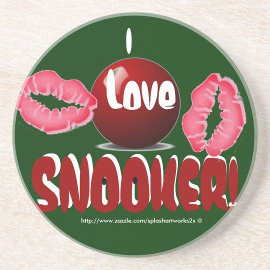 """I LOVE SNOOKER! Coaster"" Coaster"