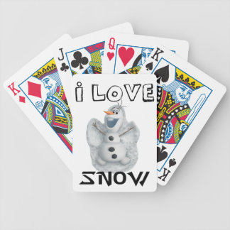 I Love Snow Bicycle Playing Cards