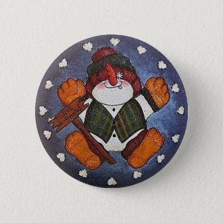 I Love Snow Button Pin