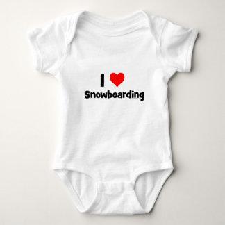 I Love Snowboarding Baby Bodysuit