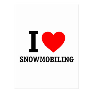 I Love Snowmobiling Postcard