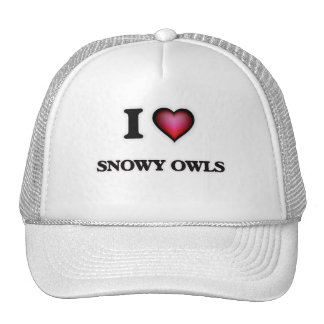 I Love Snowy Owls Trucker Hat