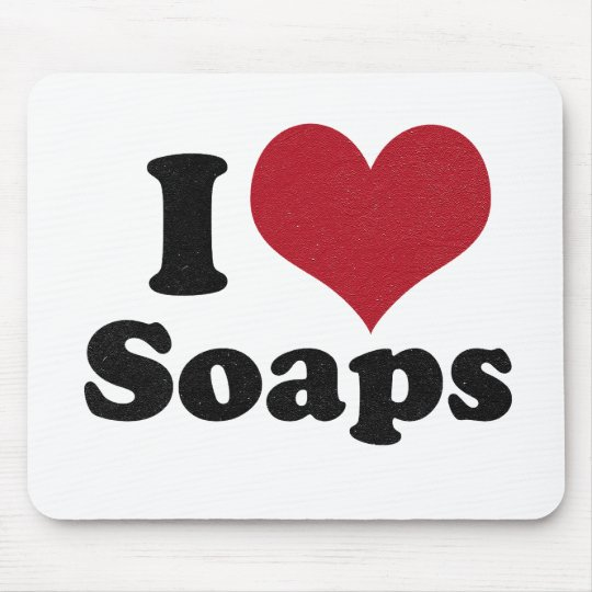 i love Soaps Mouse Pad