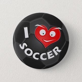 I Love Soccer 2 Inch Round Button