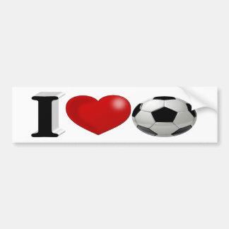 I Love Soccer 3D Bumper Sticker