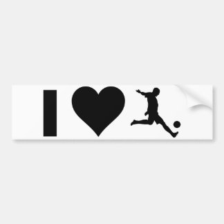 I Love Soccer Bumper Sticker