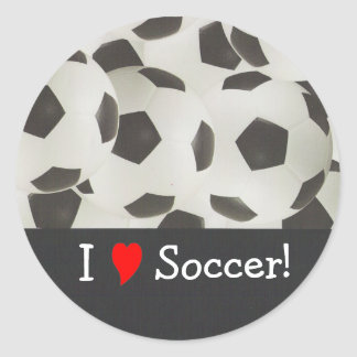 I Love Soccer! Classic Round Sticker