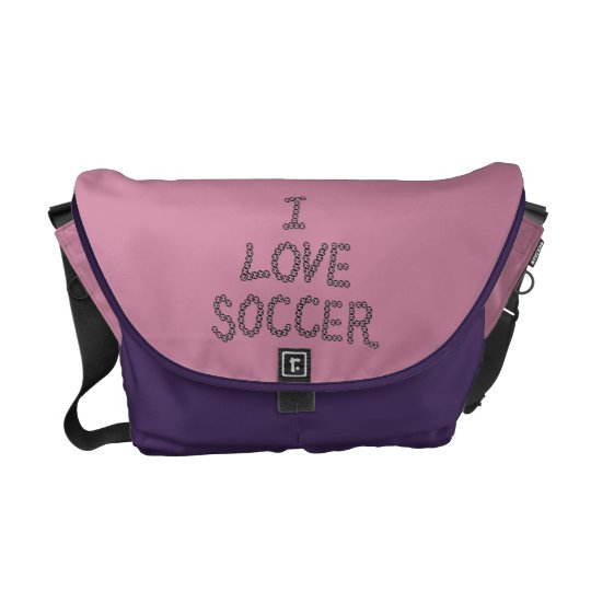 I love Soccer Courier Bags