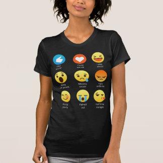 I Love Soccer Emoticon (emoji) Social (White Font) T-Shirt