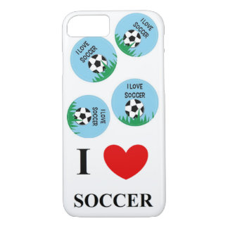 I Love Soccer iPhone 7 Bareley there case