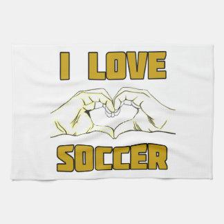 I love soccer kitchen towel
