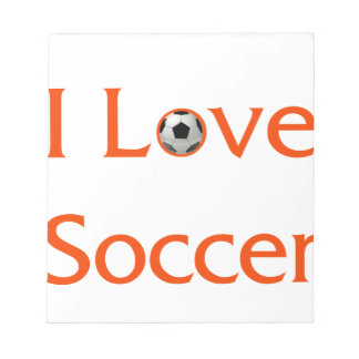 I Love Soccer Notepad