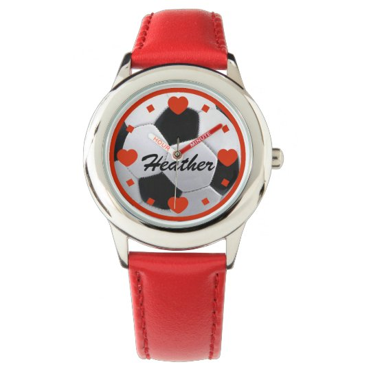 I Love Soccer Personalized Watch