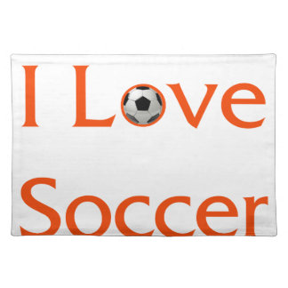 I Love Soccer Placemat