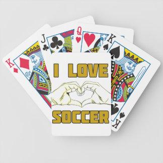 I love soccer poker deck