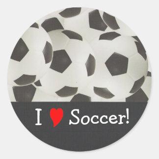 I Love Soccer! Round Sticker